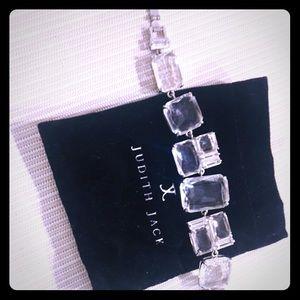 Vintage Judith Jack quartz silvertone bracelet
